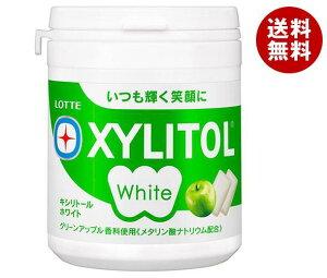 送料無料 ロッテ キシリトールホワイト グリーンアップル ファミリーボトル 143g×6個入 ※北海道・沖縄・離島は別途送料が必要。