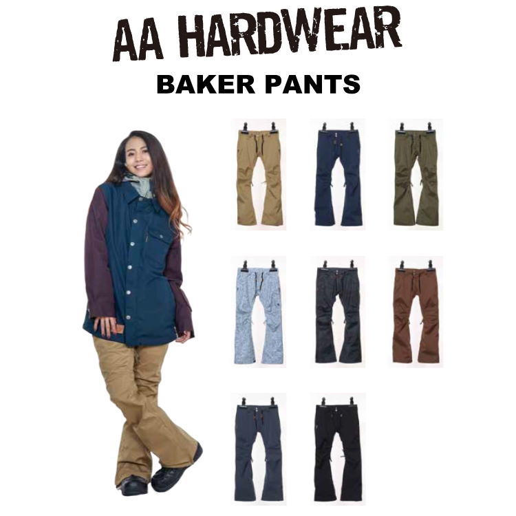【即納】18-19 AA HARDWEAR(ダブルエーハードウェア) BAKER PANTS / 早期割引25%OFF 【送料無料】【代引き手数料無料】【日本正規品】