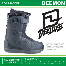 20-21 DEELUXE (ディーラックス) DEEMON TF (ディーモン) -DARK SLATE- / 早期予約割引10%OFF (スノーボードブーツ) 【送料無料】【代引手数料無料】【正規品】