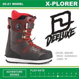 20-21 DEELUXE (ディーラックス) X-PLORER TF (エクスプローラー) -BROWN- / 早期予約割引10%OFF (スノーボードブーツ) 【送料無料】【代引手数料無料】【正規品】