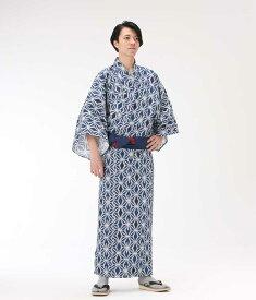 【浴衣と帯のセット】日本製 2色麻の葉 旅館浴衣【業務用】
