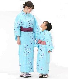 【浴衣と帯のセット】日本製 桜と水玉(さくらとみずたま)旅館浴衣【業務用】