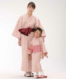 【浴衣と帯のセット】遠州綿紬 日本製 花桃(はなもも)旅館浴衣【業務用】
