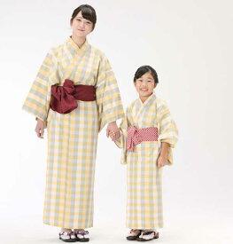 【浴衣と帯のセット】遠州綿紬 日本製 檸檬(れもん)旅館浴衣【業務用】