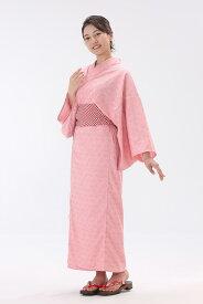 【送料無料】日本製 大人浴衣 麻の葉柄【寝巻き浴衣】【旅館浴衣】