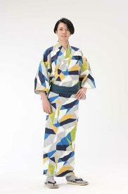 【浴衣と帯のセット】日本製 折り紙 萌黄(おりがみ もえぎ) 旅館浴衣【業務用】【遠州織物】