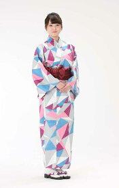 【浴衣と帯のセット】日本製 折り紙あやめ(おりがみ あやめ)旅館浴衣【業務用】【遠州織物】