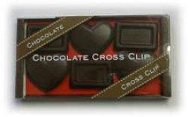 チョコレート クロス クリップ 【ハート&板チョコ ビター】バレンタイン ホワイトデーに受けちゃいます!!本物そっくり(^o^)丿
