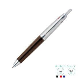 PURE MALT ピュアモルト オークウッド・プレミアム・エディション 三菱鉛筆 4機能テトラペン 赤・黒・青ボールペン+シャープペン多機能筆記具 3+1