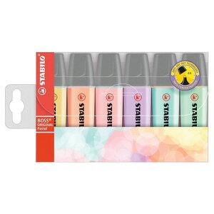 スタビロ ボス オリジナル 蛍光マーカー パステル 6色セットターコイズ、ミント、ピーチ、ピンク、イエロー、ライラックSTABILO Highlighting BOSS ORIGINAL 6C