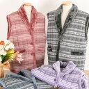 【単品販売】 敬老の日 ギフト 送料無料 ボア 中綿 ベスト ガウン ポンチョ 羽織り レディース メンズ M-LL