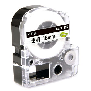【5本セット】ST18K 18mm 透明地黒文字 キングジム用 テプラPRO互換テープカートリッジ
