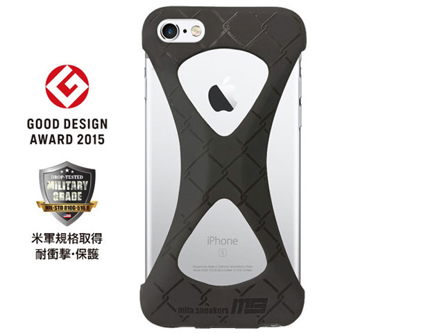"""GOODS [グッズ パルモxミタスニーカーズフォーアイフォーン6アイフォーン6s] Palmo x mita sneakers for iPhone 6s & iPhone 6 """"TRIPLE BLACK"""" BLK (palmo6ms)"""