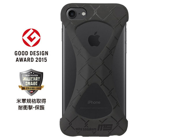"GOODS [グッズ パルモxミタスニーカーズフォーアイフォーン7] Palmo x mita sneakers for iPhone 8 & iPhone 7 ""TRIPLE BLACK"" BLK (palmo7ms)"