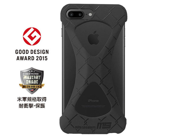 "GOODS [グッズ パルモxミタスニーカーズフォーアイフォーン7プラス] Palmo x mita sneakers for iPhone 8 Plus & iPhone 7 Plus ""TRIPLE BLACK"" BLK (palmo7pms)"