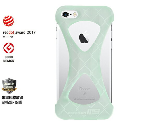 """GOODS [グッズ パルモxミタスニーカーズフォーアイフォーン6アイフォーン6s グローインザダーク] Palmo x mita sneakers for iPhone 6s & iPhone 6 """"GLOW IN THE DARK"""" GID/WHT (Palmo6msgid)"""