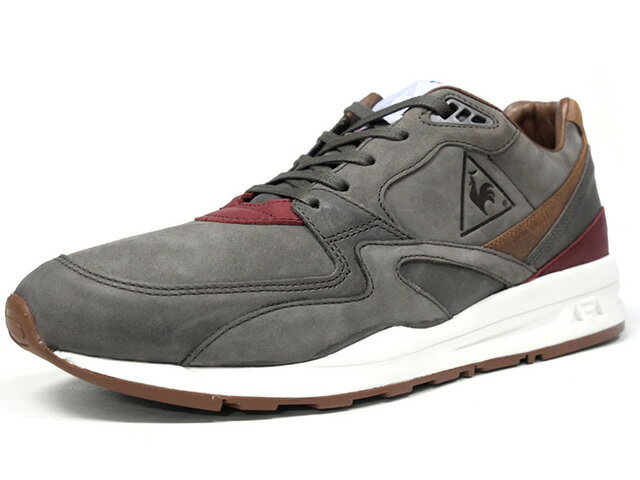 "le coq sportif [ルコックスポルティフ ルコックスポルティフランニング800レザーマロキネリ メイドインフランス] LCS R 800 LEA MAROQUINERIE ""made in FRANCE"" ""MAROQUINERIE PACK"" ""LIMITED EDITION for Le CLUB"" C.GRY/BRN/BGD/WHT (1720308)"