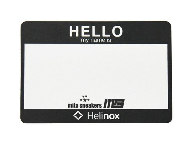 """Helinox [ヘリノックス ハローマイネームイズパッチ ウィニィッチアンドコーxミタスニーカーズ] HELLO My Name is PATCH """"Winiche & Co. x mita sneakers"""" BLK/WHT (HWM-02)"""