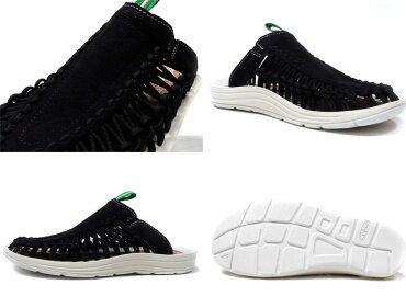"KEEN[ユニークスライドミタスニーカーズ]UNEEKSLIDE""mitasneakers""BLK/WHT/GRN(1018703)"