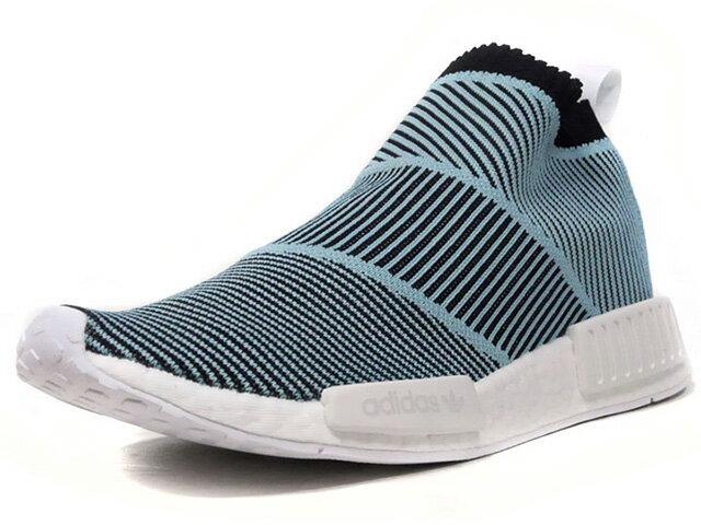 "adidas [アディダス ノマドシティソック1パーレイプライムニット パーレイフォーザオーシャンズ] NMD CS1 PARLEY PK ""Parley for the Oceans"" SAX/BLK/WHT (AC8597)"