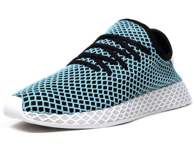 "adidas [アディダス ディーラプトランナーパーレイ パーレイフォーザオーシャンズ] DEERUPT RUNNER PARLEY ""Parley for the Oceans"" SAX/BLK/L.GRY/WHT (CQ2623)"