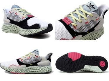 "adidas[アディダスゼットエックス4000フォーディーコンソーシアムリミテッドエディション]ZX40004D""LIMITEDEDITIONforCONSORTIUM""WHT/NAT/BLK/GRY/PNK/M.GRN(B42203)"