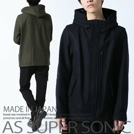ブルゾン メンズ ウール ジャンパー ハイネック ショート丈 メンズファッション アウターメンズ 秋冬 日本製 AS SUPER SONIC