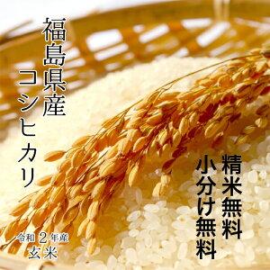 《厳選米!》福島県産 コシヒカリ令和2年 玄米 30kg 【調整済玄米!】【送料無料】【精米 又は 小分け無料】