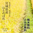 【調整済玄米!】 特別栽培米 宮城県登米産 環境保全米 ひとめぼれ令和2年 検査一等玄米 30kg 【送料無料】【精米 又…