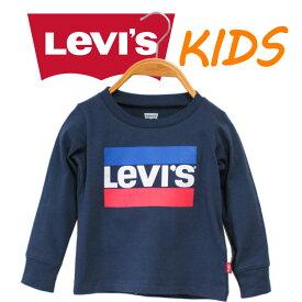 海外限定 Levi's リーバイス キッズ 出産祝い 男の子 服 親子 お揃い Tシャツ 長袖 ロゴプリント
