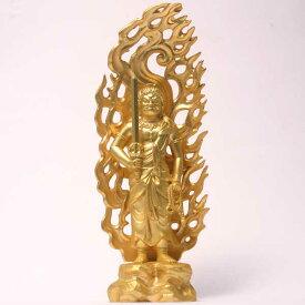 【6月13日は全品ポイント付5倍以上】純金メッキ 不動明王立像 仏像