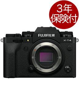 [3年保険付] FUJIFILM X-T4 ブラック ボディー ミラーレス一眼デジタルカメラ『2020年4月28日発売』[02P05Nov16]