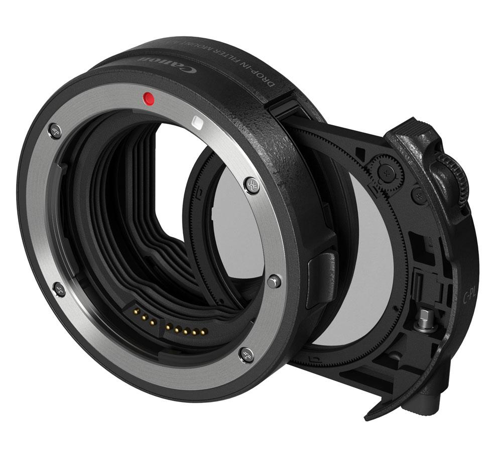 キヤノンドロップインフィルターマウントアダプター EF-EOS R ドロップイン円偏光フィルターA付