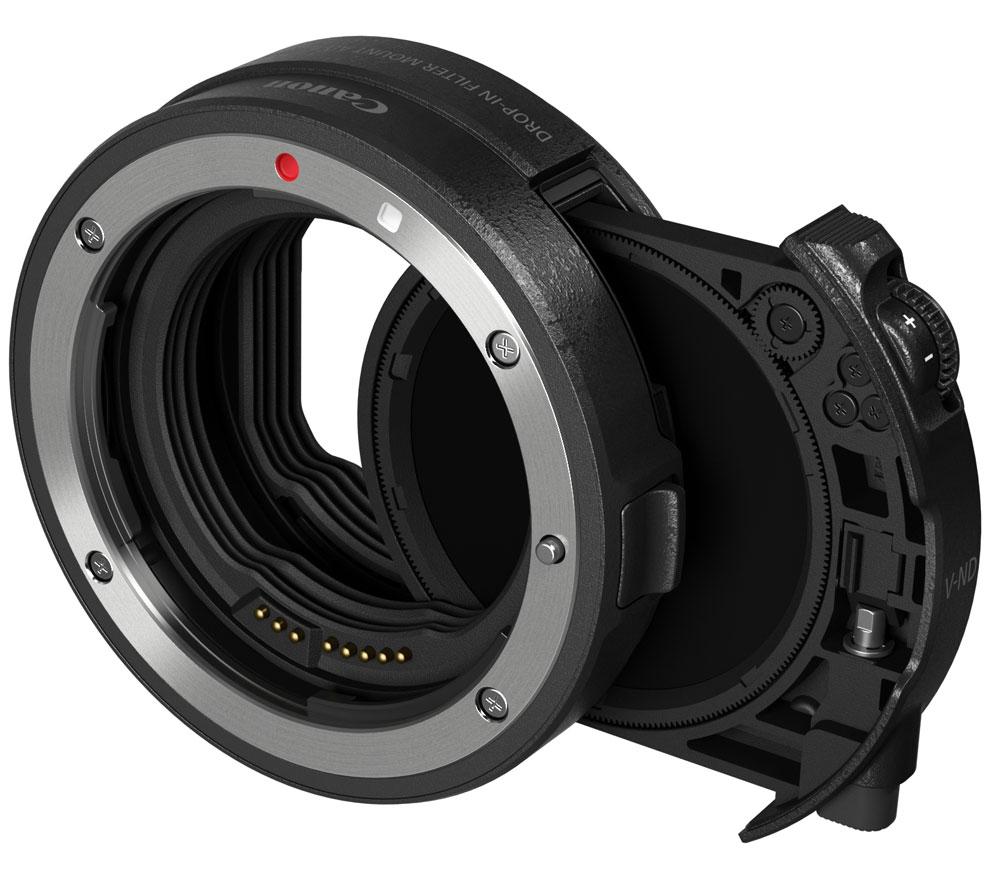 キヤノンドロップインフィルターマウントアダプター EF-EOS R 可変式NDフィルターA付 光量調整用フィルター