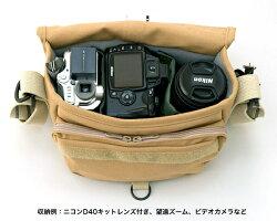 ドンケF-10ショルダーカメラバッグ『1〜3営業日後の発送』小型一眼のダブルズームレンズセット収納可能なコンパクトバッグ