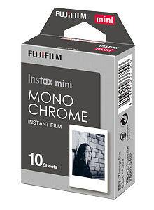 [ゆうパケット発送可能]Fuji Instax mini フィルム/チェキフィルム「モノクローム」10枚撮り『即納〜3営業日後の発送』4547410337556[02P05Nov16]