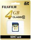 Fujifilm SDHCカード 4GB Class10 SDカード SDHC-004G-C10 『即納〜2営業日後の発送』【RCP】[fs04gm][02P05Nov16]