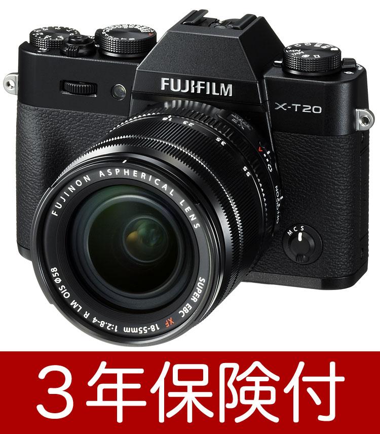 [液晶フィルム付]FUJIFILM X-T20/XF18-55mmF2.8-4 R LM OIS レンズキットブラック 電子ビューファインダー付小型・軽量ミラーレス一眼デジタルカメラXT20-B+フジノン標準ズームレンズキット[02P05Nov16]【コンビニ受取対応商品】