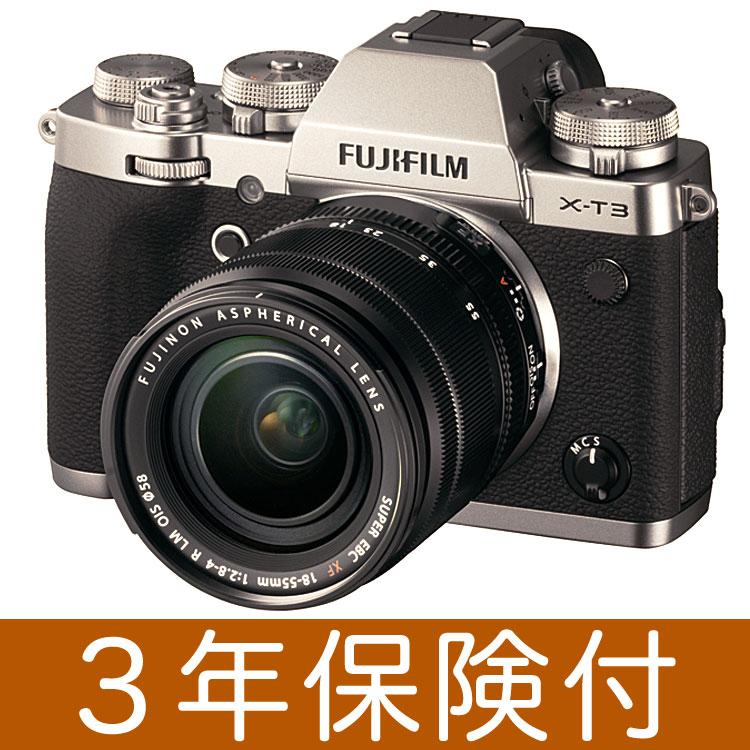Fujifilm X-T3 ミラーレス一眼デジタルカメラ シルバーレンズキット[富士フィルム X-T3 Silver/XF18-55mmF2.8-4 R LM OIS] [02P05Nov16]