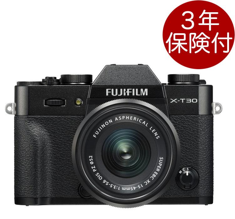 [3年保険付] FUJIFILM X-T30 / XC15-45mmF3.5-5.6 OIS PZレンズキット ブラック『2019年3月下旬発売』ミラーレス一眼XT30+フジノンXC標準ズームレンズキットBlack[02P05Nov16]