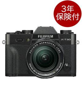 [3年保険付] FUJIFILM X-T30 / XF18-55mmF2.8-4 R LM OISレンズキット ブラック ミラーレス一眼XT30+フジノンXF F2.8-4標準ズームレンズキットBlack[02P05Nov16]