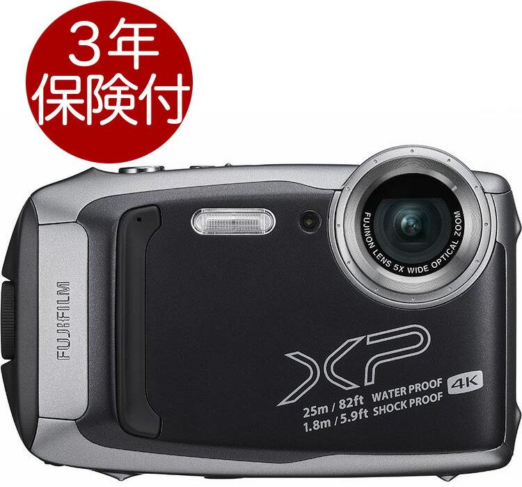 [3年保険付] Fujifilm FinePix XP140 ダークシルバー 水深25m防水・耐衝撃・耐寒・防塵アウトドアデジタルカメラ[02P05Nov16]
