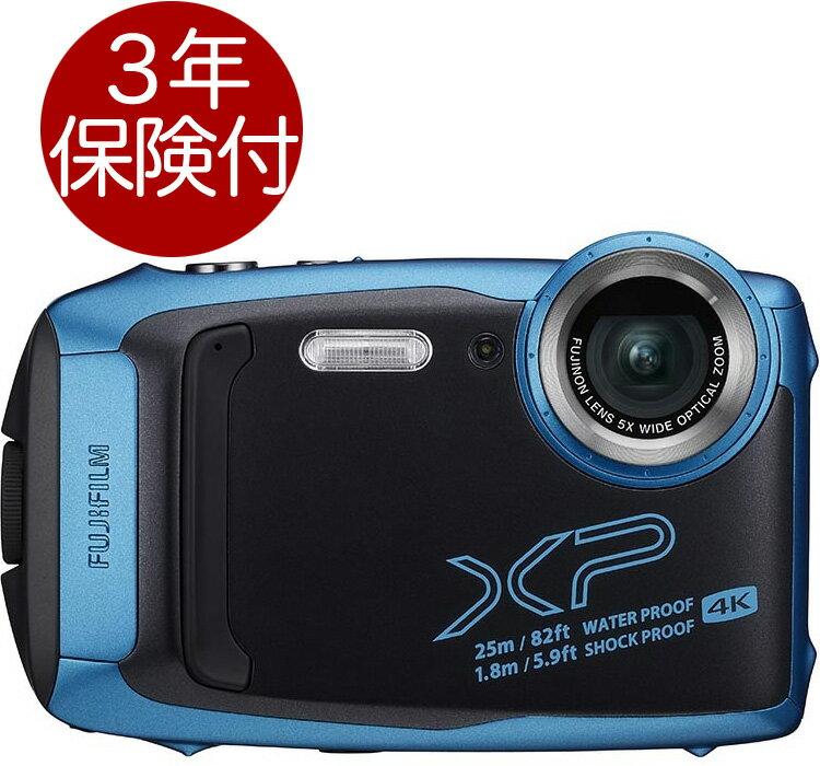 [3年保険付] Fujifilm FinePix XP140 スカイブルー 水深25m防水・耐衝撃・耐寒・防塵アウトドアデジタルカメラ[02P05Nov16]