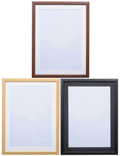 ハクバ 木製額縁 FW-04 A3サイズ写真額 Vカットマット+前面ガラス板仕様A3判(FW-3の後継)[02P05Nov16]