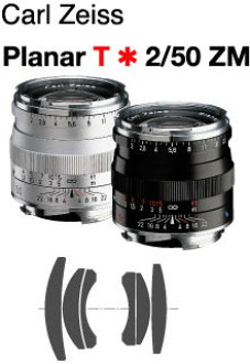 Carl Zeiss Planar T * F2/50 mm ZM-Mount Lens