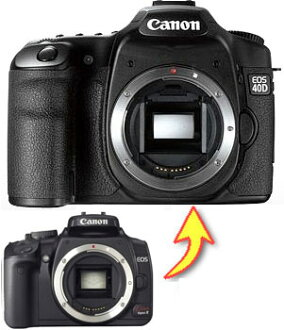 "Canon EOS Kiss Digital X-> EOS 40 d digital SLR levgread up ""to be shipped:"" ["