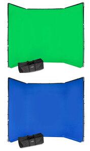 Manfrotto クロマキーFX背景キット グリーン(MLBG4301KG)/ブルー(MLBG4301KB) 大型サイズ背景クロマキー背景キット アルミフレーム+カバー+クリップ+テンションバー+ケースセット[02P05Nov16]