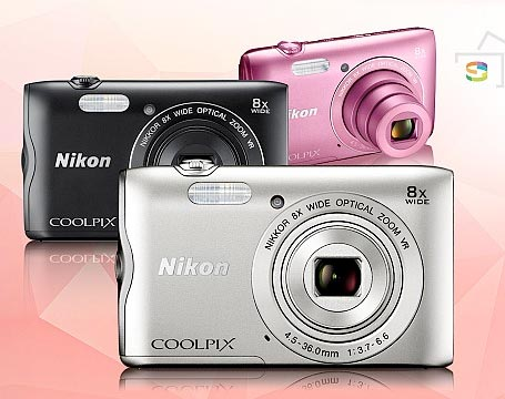 Nikon COOLPIX A300 デジタルカメラ 『即納〜2営業日後の発送』広角25mm相当からの光学8倍ズーム搭載の小型デジカメ【smtb-TK】【RCP】[fs04gm][02P05Nov16]
