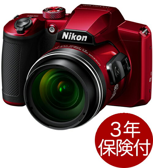 Nikon COOLPIX B600 レッド 光学60倍ズームデジタルカメラ『2019年2月15日発売』高倍率ネオ一眼タイプデジカメ[02P05Nov16]
