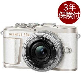 [3年保険付]OLYMPUS PEN E-PL10 14-42mm EZ レンズキット ホワイト オリンパスペンミラーレス一眼標準ズームキット[02P05Nov16]